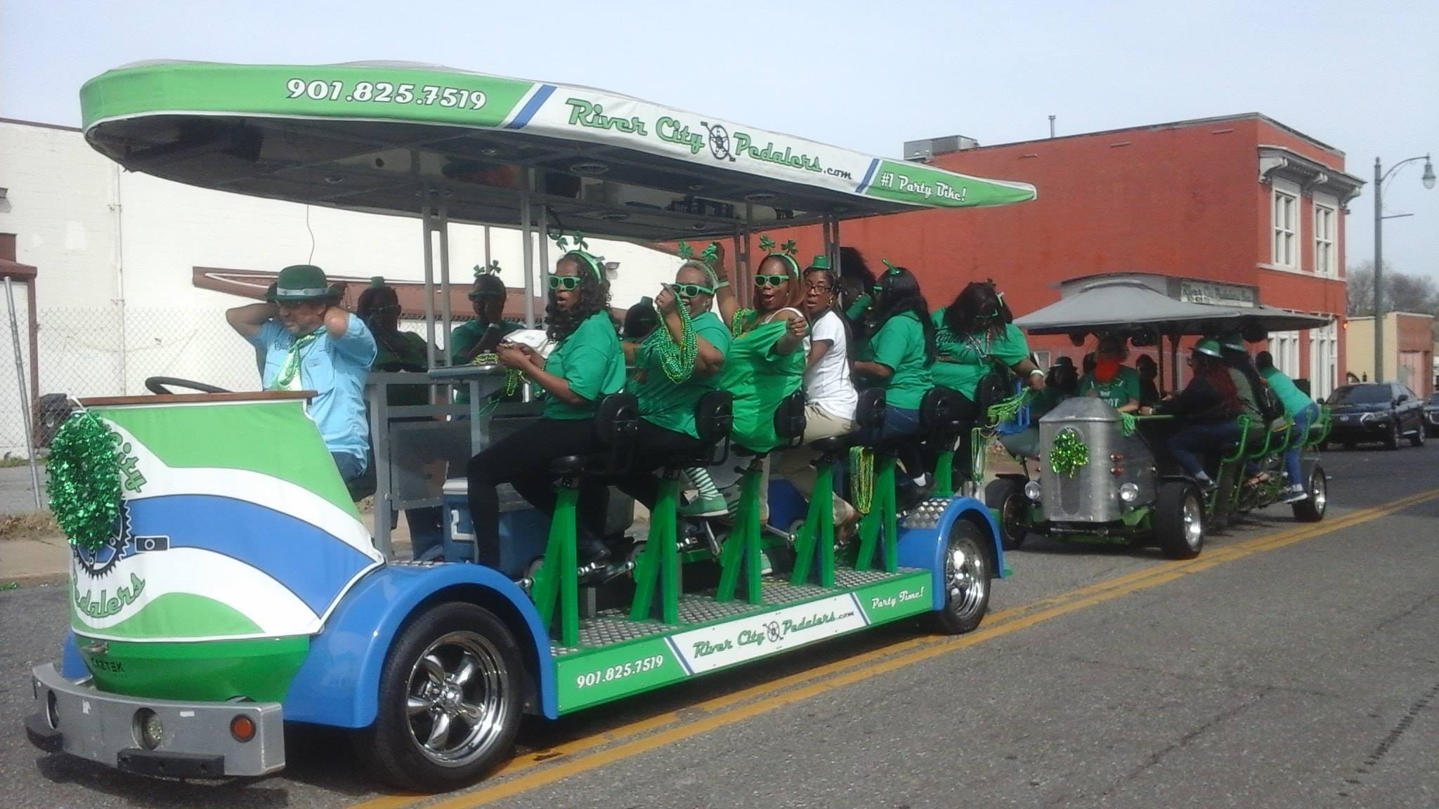 Book a ride in the Memphis St. Patrick's Day Parade!